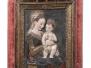 Madonna con bambino, rilievo in stucco policromo